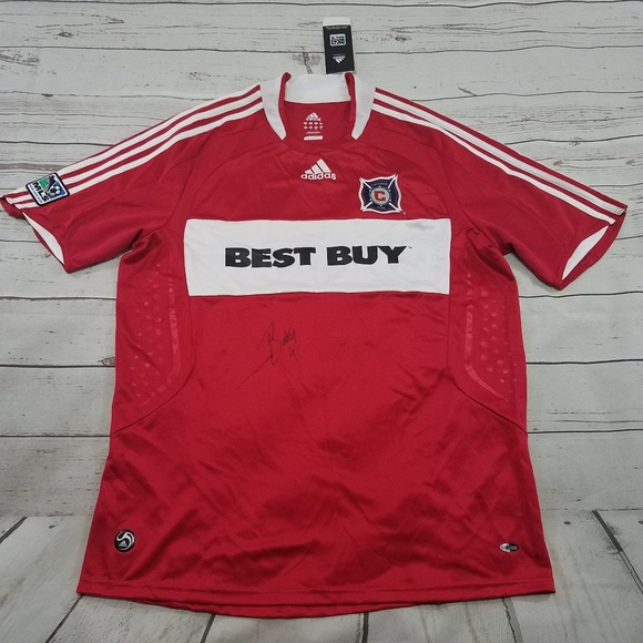 official photos b3465 4b114 Chicago Fire Jersey Size Large Mens Adidas NWT